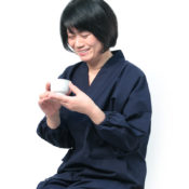 紬織り女作務衣