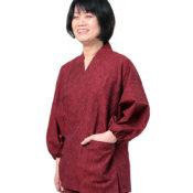 刺し子雫織り女作務衣