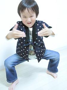 Tくん(4歳6か月) こどもやっこ 着用サイズ:110cm