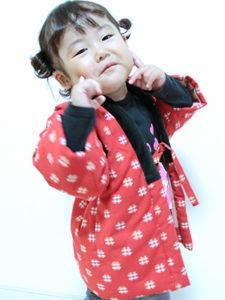 Sちゃん(2歳6か月) こどもはんてん着用サイズ:90cm