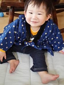 Kさまより(1歳3ヶ月) こどもはんてん 着用サイズ:90cm