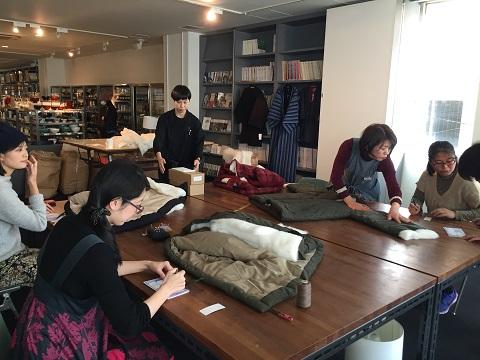 D&DEPARTMENT FUKUOKAさまの「はんてん」づくりワークショップ