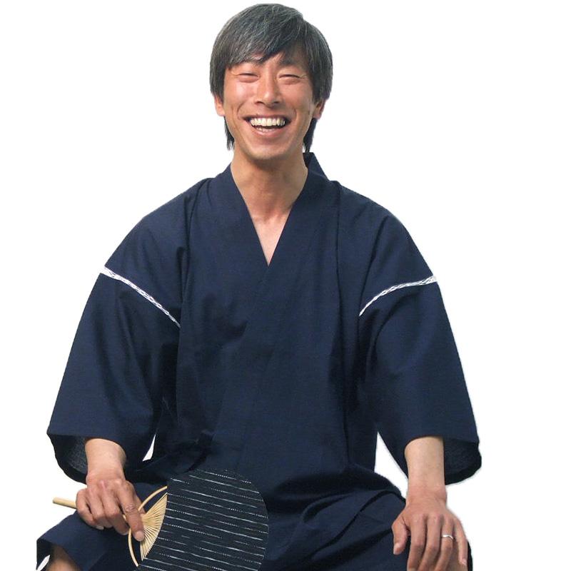 甚平(じんべい)ちぢみ織り【日本製】