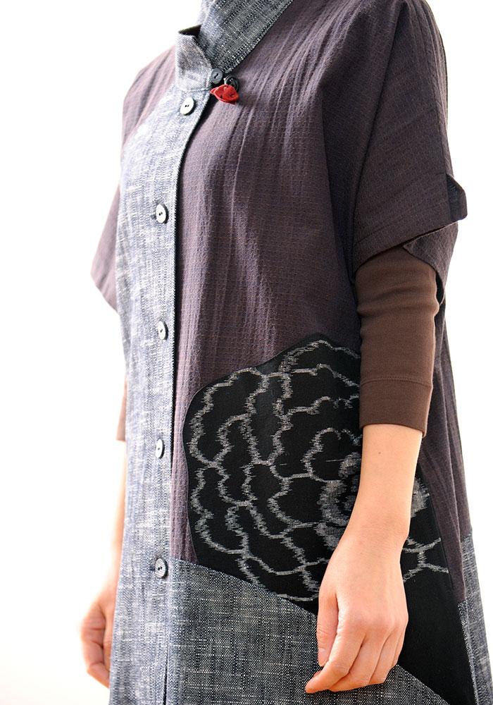 久留米絣の流れを汲む和木綿で作るオリジナル婦人服「彩藍」
