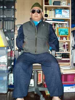Mさまのアウトドアでの作務衣