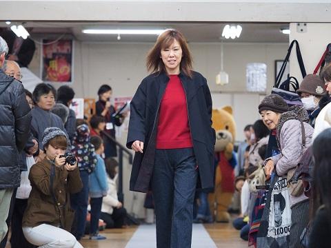 宮田織物のファッションショー